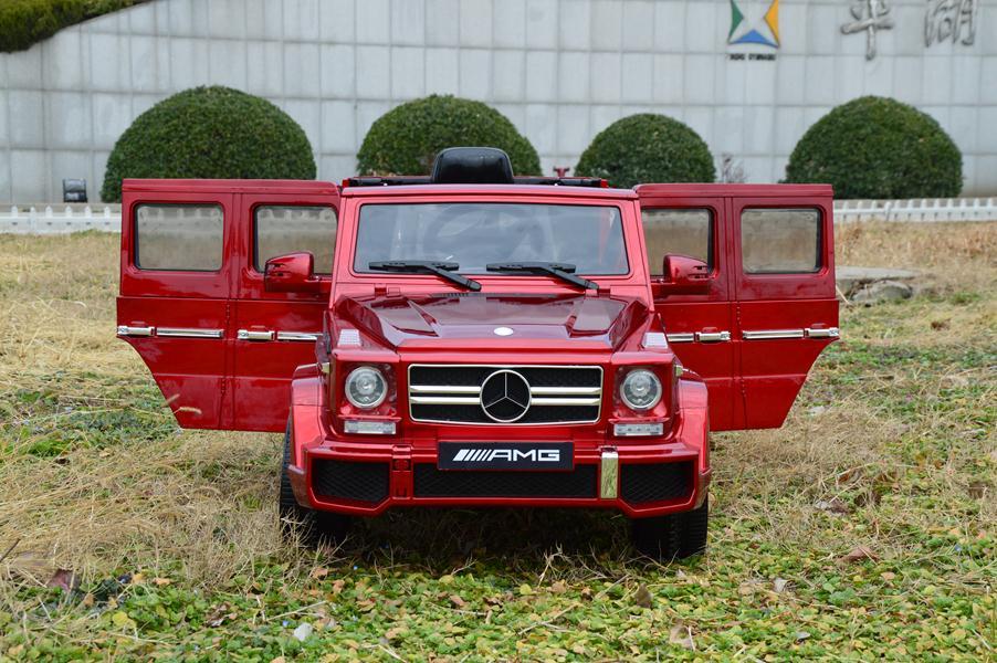 Coche infantil el ctrico 12 voltios rc mercedes g63 rojo for Mercedes benz marion il