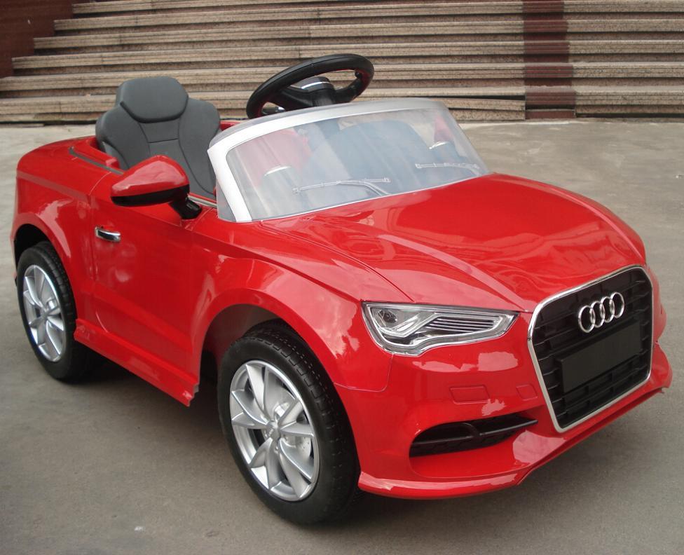 coche de bater a para ni os 12v audi a3 rojo mando rc 2 4g coches infantiles a bateria. Black Bedroom Furniture Sets. Home Design Ideas