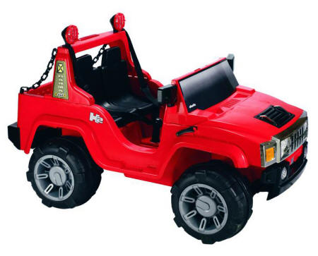 Coche Electrico De Juguete 12v Hummer Rojo Rc Coches Infantiles A