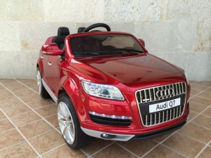 VEHICULO-NINOS-BATERIA-MANDO-Audi-Q7-12V-Red-Painted-0R